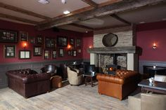 Fireside seating makes for a cosy escape at The Crown & Thistle, Abingdon