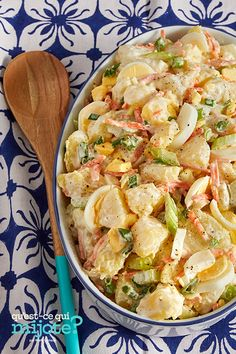 Salade de pommes de terre façon hawaïenne à l'autocuiseur électrique #recette Hawaiian Potato Salad Recipe, Yukon Gold Potato Salad Recipe, Hawaiian Salad, Electric Pressure Cooker, Pressure Cooking, Peeling Potatoes, Recipe Please, Cooking Instructions, 20 Min