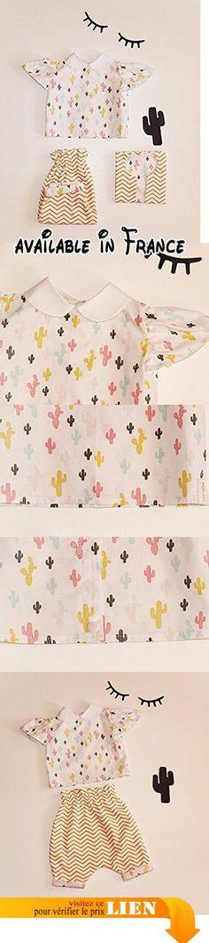 Chemise Bébé Fille Col Claudine / Blouse Bébé Fille Col Claudine /Motif Cactus / Cadeau Naissance / Cadeau Anniversaire / Cadeau Noël /.  #Guild Product #GUILD_APPAREL