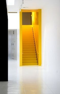 Yellow stairs, bring some light into your corridor
