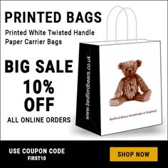 Customised Carrier Bags for Branding, Alena Marth Printed Carrier Bags, Paper Carrier Bags, Printed Bags, Shop Now, Branding, Prints, Handmade, Craft, Brand Identity