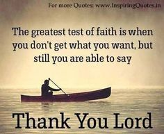 Thanks to the Lord no matter what