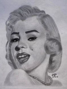 Marylin Monroe.. drawing made in 2011. When I started to figure out shading.