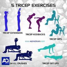 Tricep Exercises #fitness #health #aqmedicare