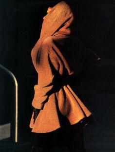 Marc Hispard for Elle magazine, September 1986. Clothing by Donna Karan.