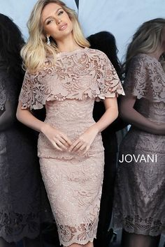 jovani Light Pink Fitted Knee Length Lace Cocktail Dress 1401 Source by th_voce Elegant Dresses, Sexy Dresses, Short Dresses, Fashion Dresses, Dresses With Sleeves, Summer Dresses, Formal Dresses, Wedding Dresses, Pretty Dresses