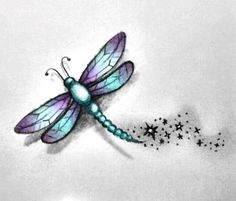 25 Best Dragonfly Tattoo Designs and Placement Ideas - The Xerxes Dragonfly Drawing, Small Dragonfly Tattoo, Dragonfly Art, Watercolor Dragonfly Tattoo, Baby Dragonfly, Dragonfly Quotes, Dragonfly Illustration, Watercolor Tattoos, Foot Tattoos
