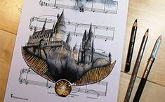 Creativity comes in many shapes and forms. Austrian artist Ursula Doughty decided to unleash hers in an interesting and fun way. She took music sheets of famous songs and drew scenes, characters, and celebrities on them. Breeds Of Cows, Highland Cattle, Cat Comics, Retro Videos, Shape And Form, Watercolor Bird, Drawing Skills, Korean Artist, Bored Panda