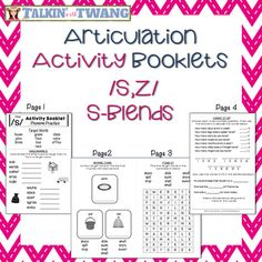 Are you looking for a way to make articulation practice fun? These activity booklets are just what you need! No prep and great articulation practice for older students!These booklets are great for grades 3+ and work well on days when you need a quick, no prep activity to work on speech sounds.