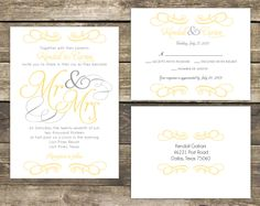 PRINTED Wedding Invitation Set  Mr and Mrs by mycharmingprints, $1.60