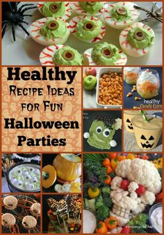 Tired of all the junk that accompanies Halloween? Check out these healthy recipe ideas for fun Halloween parties! It doesn't have to be about candy and junk.