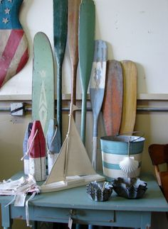 Painted Oars!!! Bebe'!!! Love this collection of painted!!!!