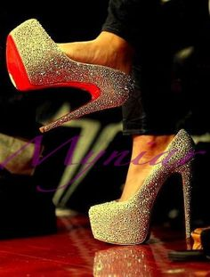 72d76a83f sparkly Christian Louboutins- the ultimate red sole desire.my glass slippers
