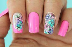 Diseño de uñas flores Turquoise, Nails, Beauty, Google, Tatuajes, Finger Nails, Ongles, Cosmetology, Nail