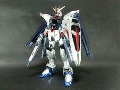 Bandai 1/100 Freedom Gundam Coating Ver. SEED built model kit Gunpla Figure #Bandai