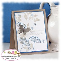 Stampin Up SummerSilhouettes card by Sandi Maciver. Soft & pretty