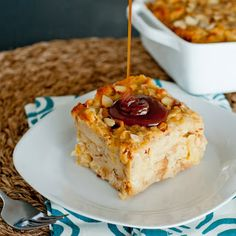 Big Apple Bread Pudding with Salted Bourbon Caramel Sauce
