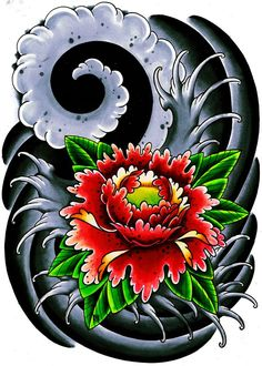 Výsledok vyhľadávania obrázkov pre dopyt japanese tattoo flower