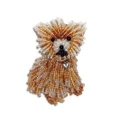 Teacup Pomeranian custom beaded dog jewelry bead embroidery pin pendant Etsy Amazon beadwork artist Vanderpump dogs