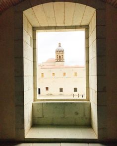 View of the Church of Santo Domingo de Guzmán from the window of the Museum of Culture of Oaxaca