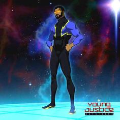 Young Justice Characters, Marvel And Dc Characters, Marvel Villains, Superhero Characters, Marvel Comic Character, Character Art, Young Justice Season 4, Black Lightning Static Shock, Dc Comic Costumes