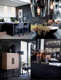 Interior Architecture, Interior Design, Elegant, Scandinavian Design, Design History, Black And White, Living Room, Kitchen, Table