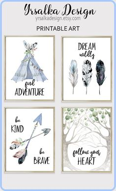 Adventure Nursery Decor Baby Boy Boho Tribal Print Set 4 Aztec Nursery Wall Art Kids Wanderlust Adventure Kids Art Watercolor Teepee Arrows Boy boho nursery print set of 4 by Printable Tribal baby boy wall art Indian room decor Fe Baby Shower Decorations For Boys, Boy Baby Shower Themes, Baby Boy Rooms, Baby Boy Nurseries, Baby Decor, Baby Boy Shower, Kids Rooms, Baby Showers, Baby Room