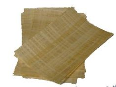 Blank Egyptian Papyrus Sheets + information cover for Art Projects and Schools 8x12in 20x30cm