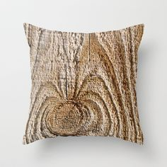 Feeling Knotty Throw Pillow, brown woodgrain - rustic country decor, wood