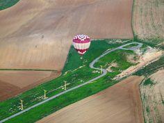 Fent l'aproximació a l'aeroport de Lleida en el Campionat de Catalunya Globus Aerostàtics - 2014