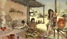 Carpetanos     Recreación de un hogar carpetano. (Comunidad de Madrid)