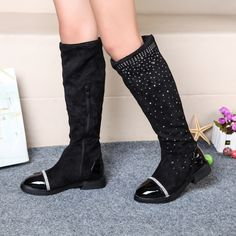 691cc2e14b55 Click to Buy    2016 Hot sale kids boots fashion rivet pu leather.