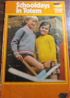 Patons Children's Schooldays Knitwear Pattern book no. 978 in TOTEM #Patons