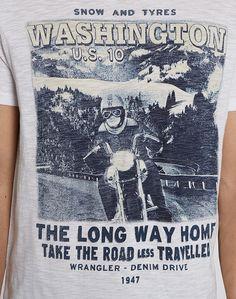 Wrangler | Men | Jeans & Clothing | T-Shirts | White | Long Way Home Tee