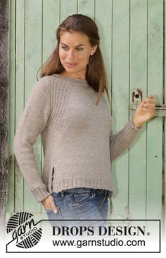 Wednesday Mood - Knitted sweater with raglan in DROPS Puna. The piece is worked top down with texture. Sizes S - XXXL. - Free pattern by DROPS Design