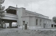 tation Rotterdam Blaak stationsgebouw I (1954) Nieuw eenvoudig ontvangstgebouwtje voor het verwoeste station Beurs.