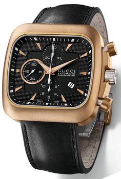 e6232c64c46 Gucci - Black Coupe Chronograph Bronze Watch for Men - Lyst