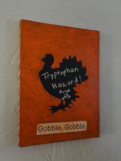 Thanksgiving turkey craft with chalkboard paint!