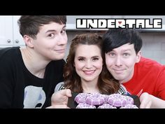 UNDERTALE SPIDER DONUTS ft Dan & Phil! - NERDY NUMMIES - YouTube