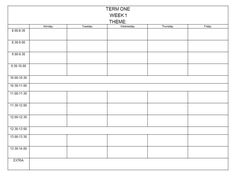 A simple editable template for your weekly prep