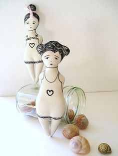 SERAFINA / rag doll / soft doll / comfort doll / art doll / AOOK. £15.00, via Etsy.