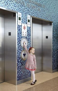 Herman & Walter Samuelson Children's Hospital at Sinai  - Custom-designed, big elevator buttons were included to create a sense of play and fun for patients and families.