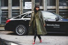 The Best Street Style At LFW AW16 #refinery29  http://www.refinery29.uk/2016/02/103500/street-style-london-fashion-week-aw16-news#slide-52  Margaret Zhang....