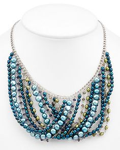 Some of you have to get in on this: HONORA Silver 4-7.5mm Pearl & Gemstone Necklace