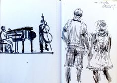 Marciac Jazz Festival : sketching while listening and living ..... jazz music | by georges febvre