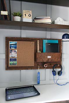 IHeart Organizing: DIY Wood Study Wall Organizer