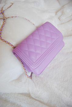 Purple Diamond-shaped chain bag http://sweetbox.storenvy.com/