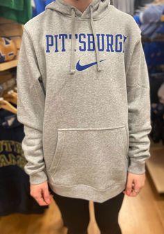 Nike Pitt Panthers Mens Grey Club Fleece Long Sleeve Hoodie - 19862027 Pitt Panthers, Hoodies, Sweatshirts, Pittsburgh, Club, Nike, Grey, Long Sleeve, Sleeves