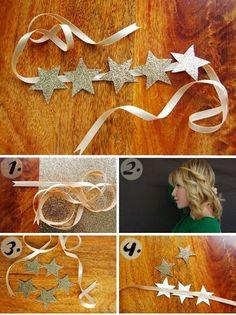 donneinpink - Save and Tinker: Simple and Fast DIY Hairstyles - I . - - donneinpink – Sparen und Basteln: Einfache und schnelle DIY-Frisuren – I … donneinpink – Save and Tinker: Simple and Fast DIY Hairstyles – I … Quick Diy Hairstyles, Costumes Faciles, How To Wear Headbands, Diy And Crafts, Crafts For Kids, Star Costume, Christmas Program, Diy Headband, Flower Headbands