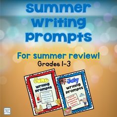 Help prevent the summer slide and keep kids writing all summer long! Send home these fun writing prompt packets for students to work on over the summer. Each packet includes one prompt for each weekday in June AND July!